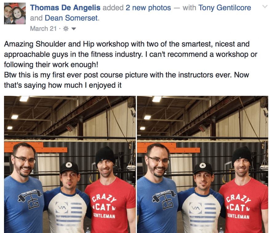 Tony, Dean, and an experienced trainer at the end of the seminar