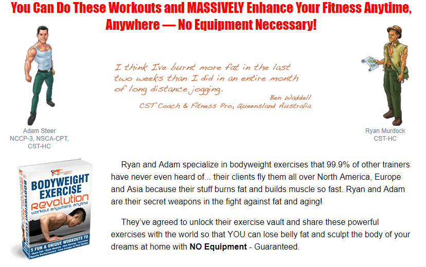 Bodyweight Exercise Revolution package
