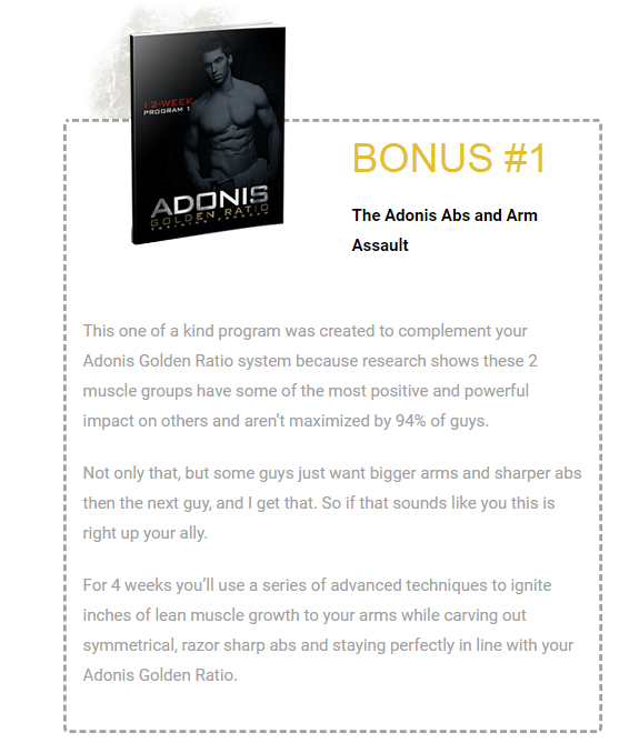 adonis golden ratio bonus