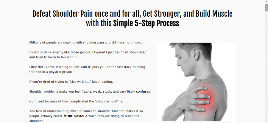 The simple shoulder solution is a program that you need in order to get relieve from the pain in the shoulders.