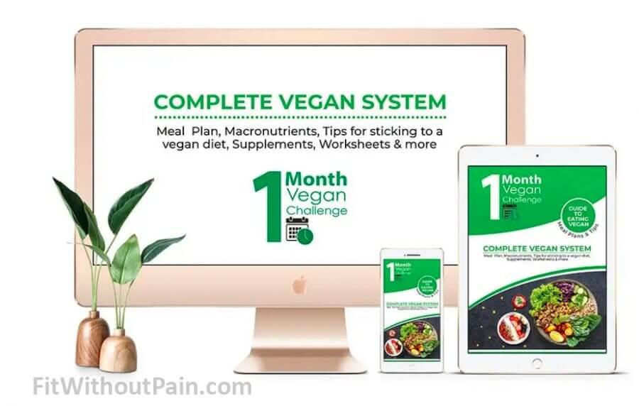 1 Month Vegan Challenge Complete System
