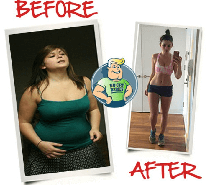Before After Success Story fat loss