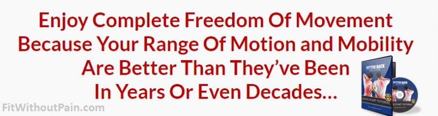 Better Back Solution Complete freedom of movement