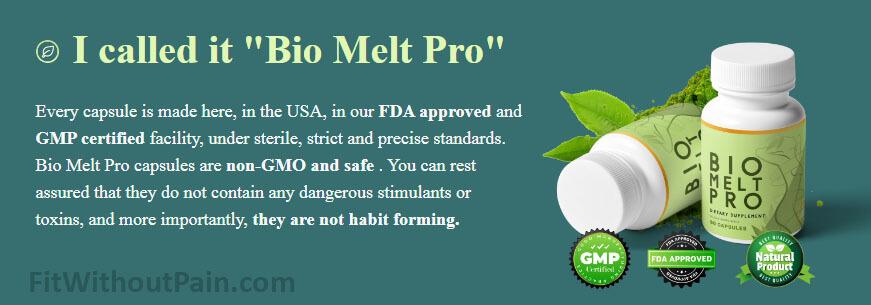 Bio Melt Pro FDA approved GMP Certified
