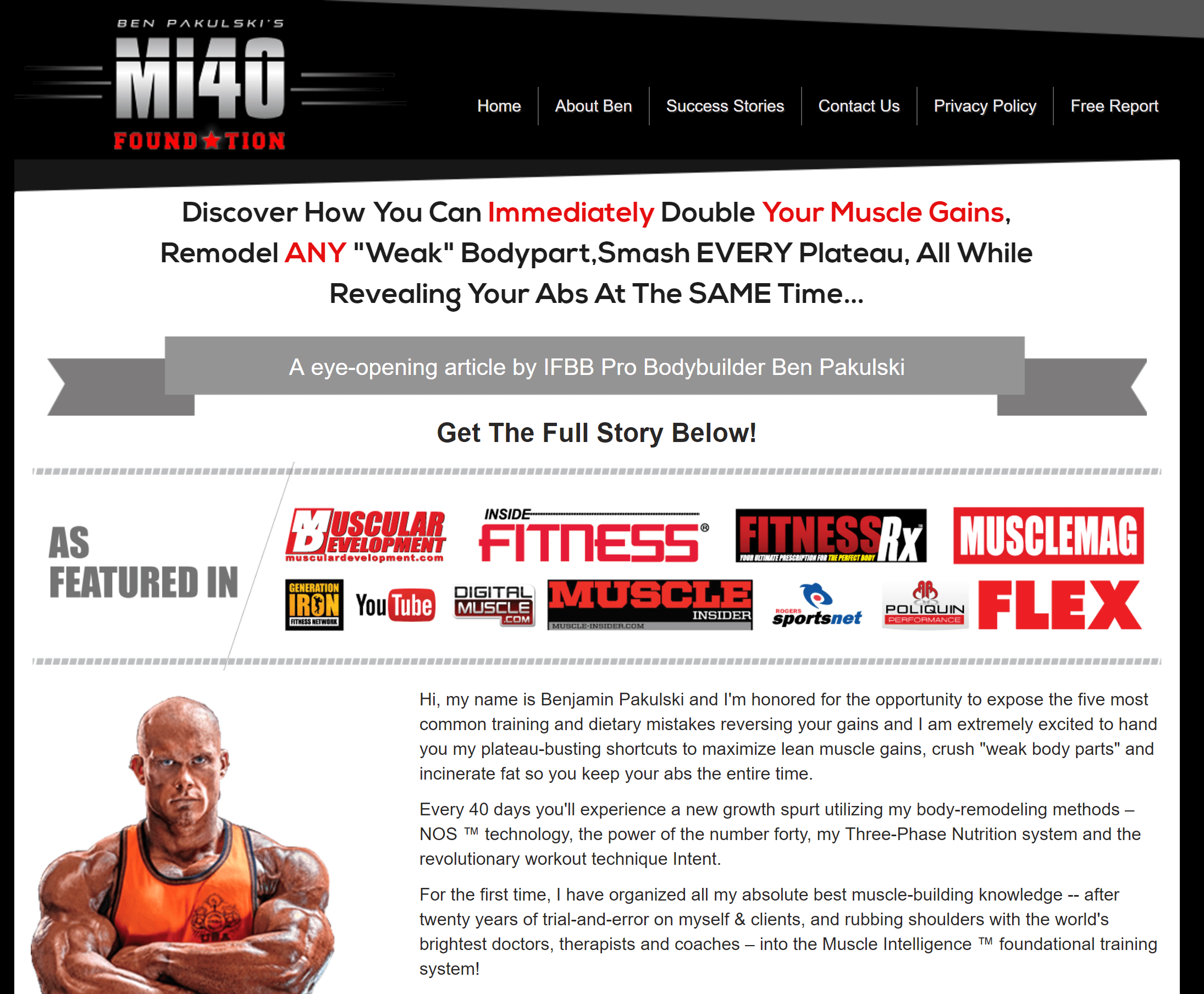 MI40 the best muscle gain program