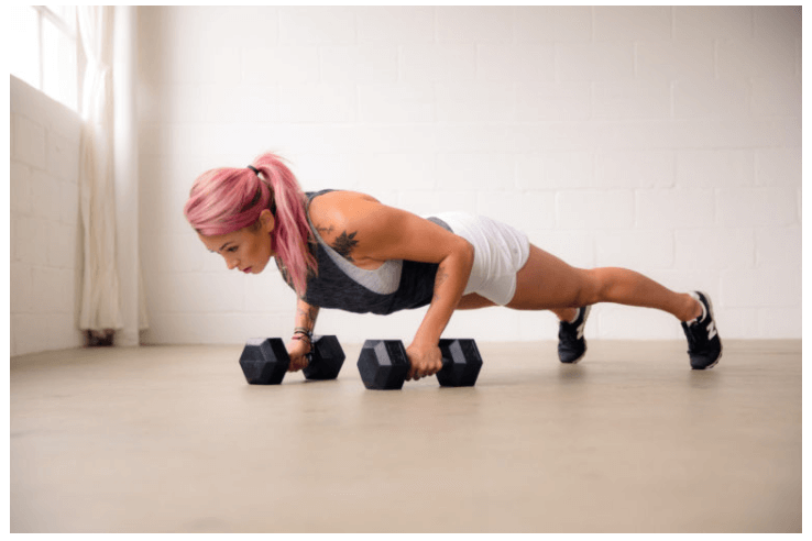 weights and push ups