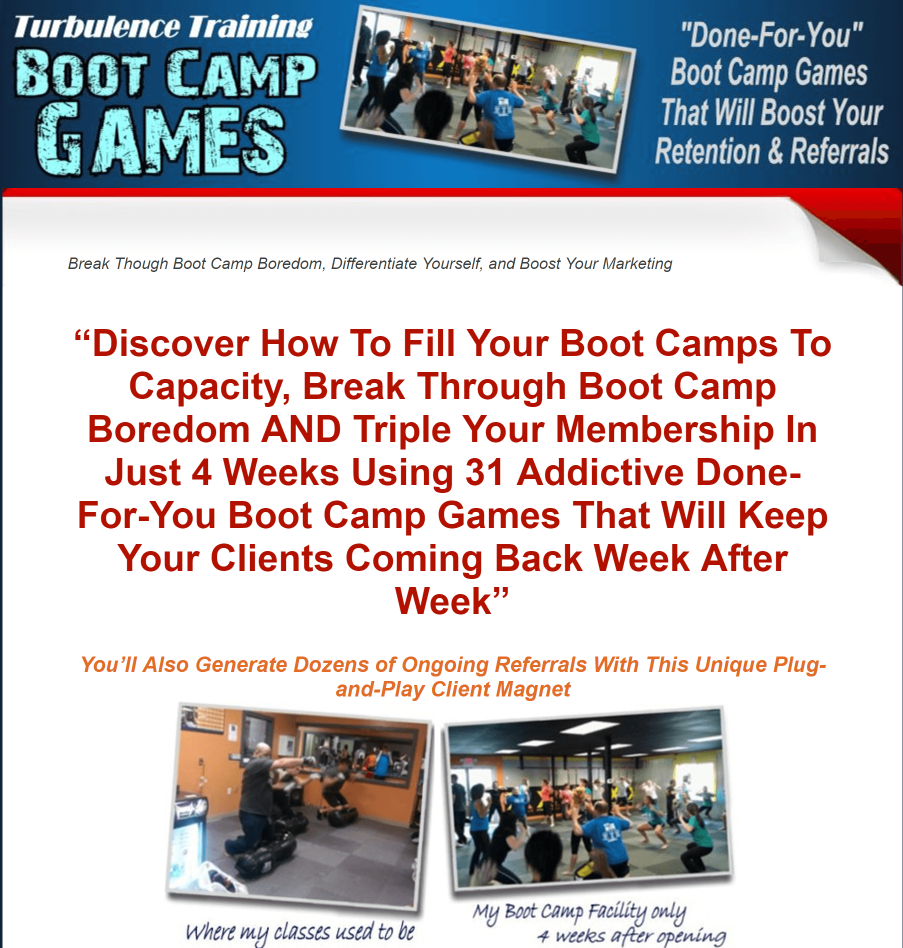 Turbulence Training Boot Camp Games -exercising made fun