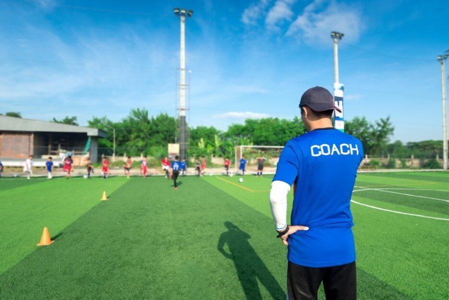 Coach is coaching Children Training