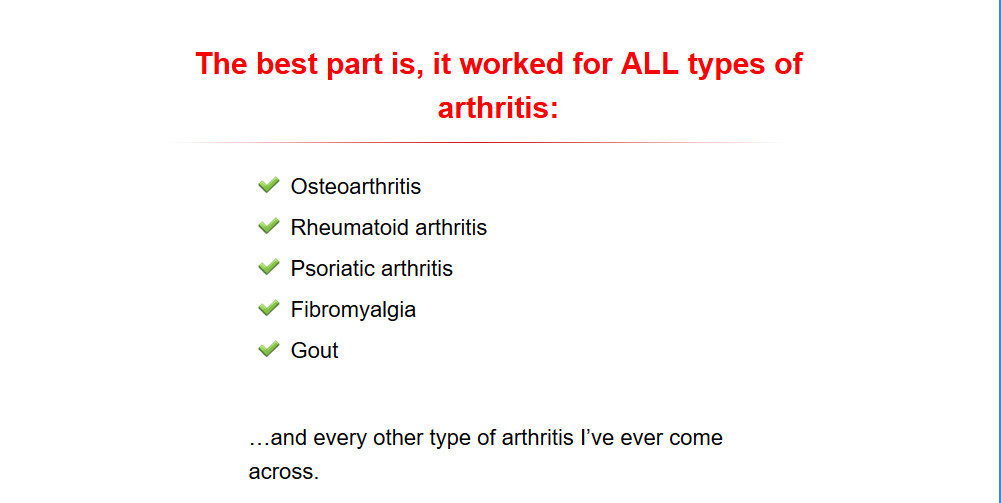 some important things about artritis