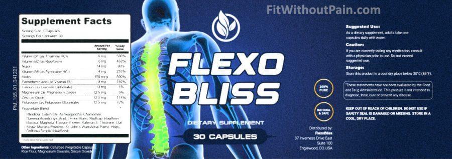 Flexobliss Supplement Facts