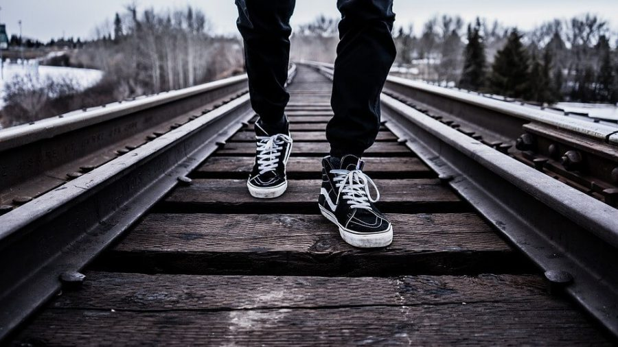 Foot on the railroad