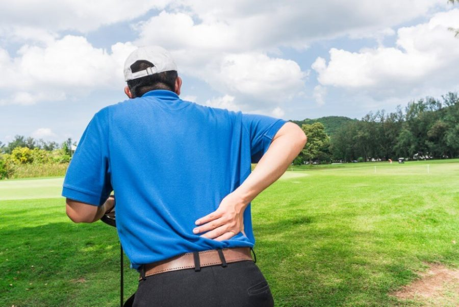 Golfer Back pain during a game