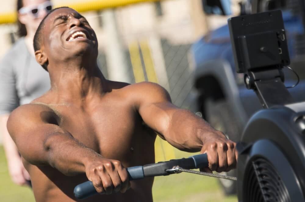 Man Grunting-Training equipment
