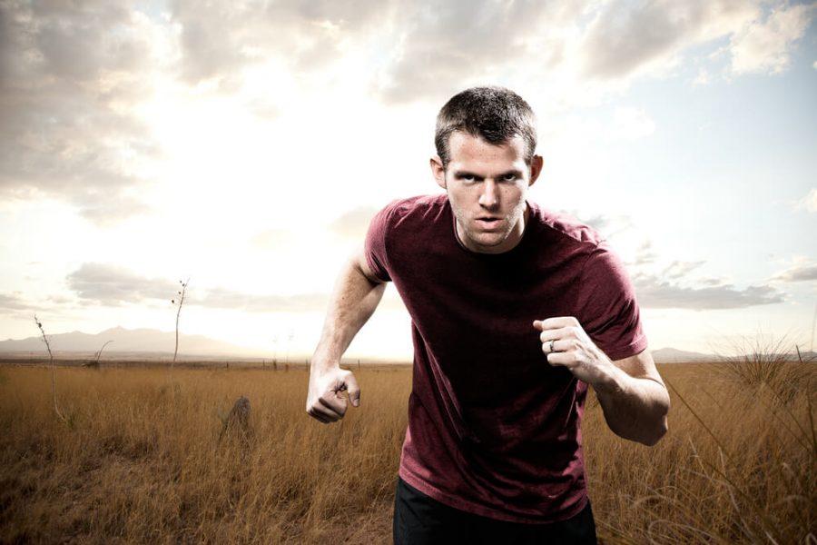 Man Running with Focus
