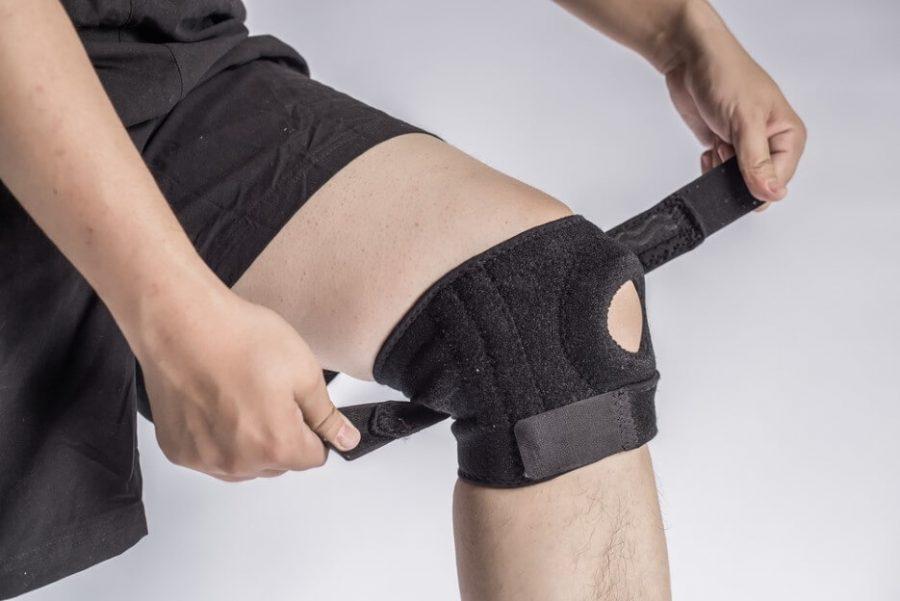 Man Wearing Knee Brace