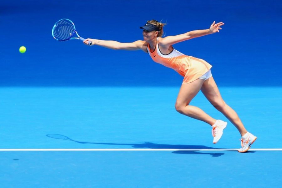 Maria Sharapova of Russia in action
