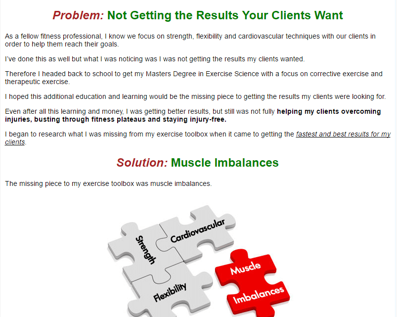 Not getting the results your clients want, Here is a solution named muscle imbalances