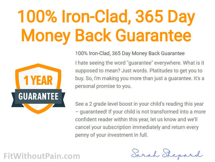 Reading Head Start Money Back Guarantee