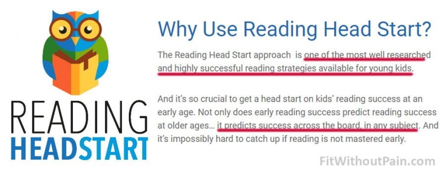 Reading Head Start Why Use the Program