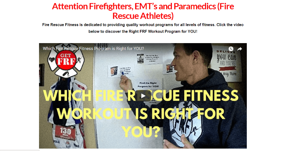 Get to know all the secrets of the firefighter's workout!