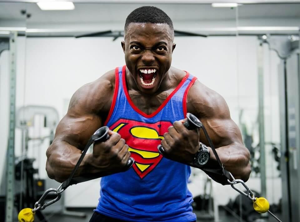 Stress Training Weight Bodybuilder Muscular