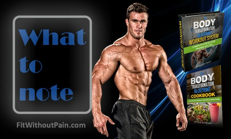 The Body Transformation Blueprint What To Note