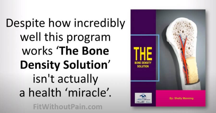 The Bone Density Solution Not a Health Miracle