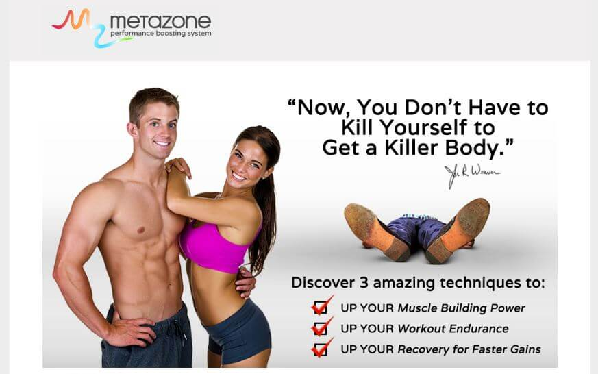 Website of MetaZone Performance Boosting System