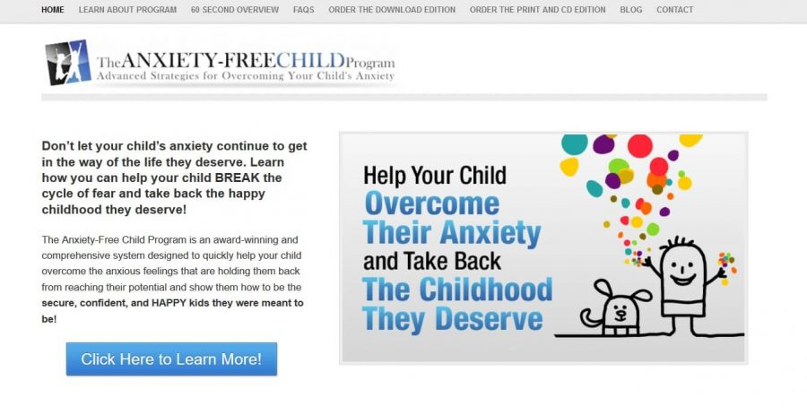 Help your child deal with anxiety using The Anxiety Free Child Program