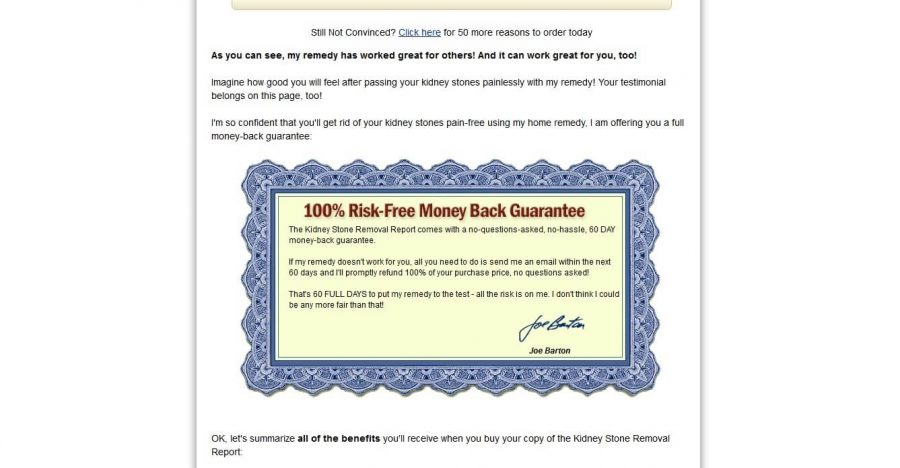 Get your money back within 60 days