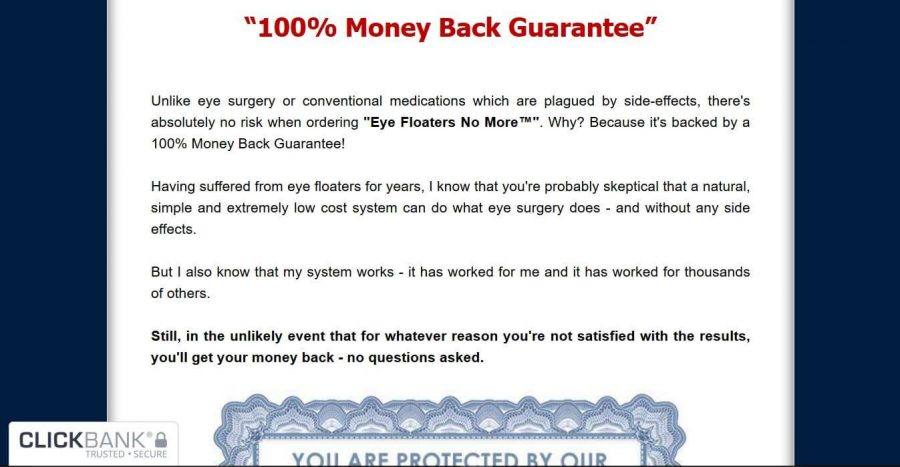 Get your money back 100% if it doesn't work