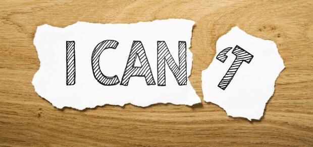 piece of paper which says 'can'