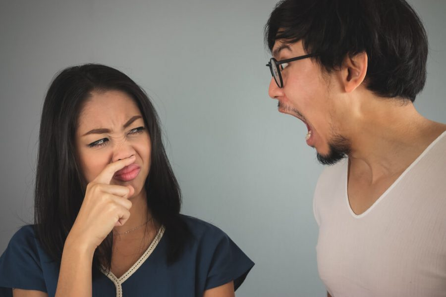 Bad breath from the husband