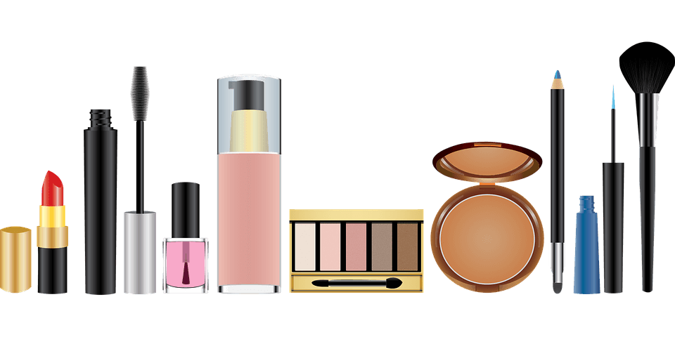 cosmetics used to give a flawless skin