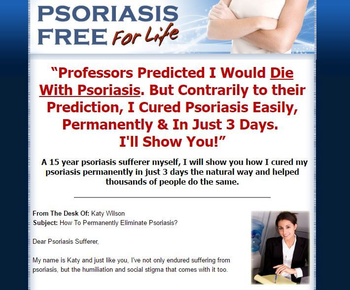 Website of psoriasis free for life