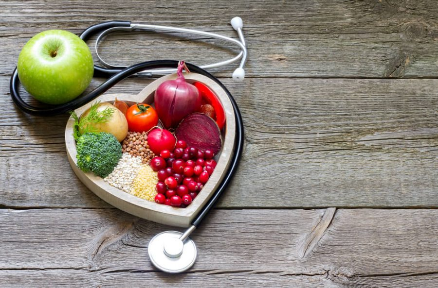 Healthy food in heart and cholesterol diet