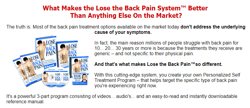 complete lose the back pain system package