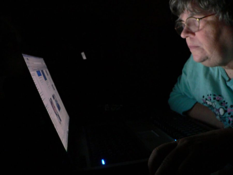 Person using a computer