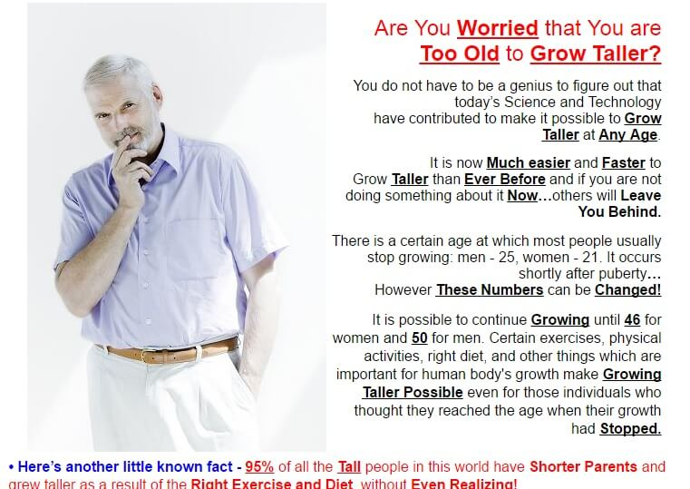 Age is no barrier to grow tall, you can grow up to 6 inches even till the age of 50