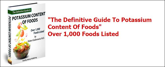Potash food diet!
