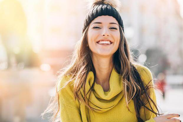 girl smiling with confidence