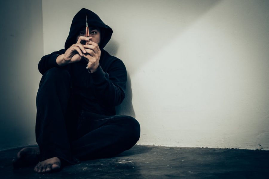 overdose asian male drug addict