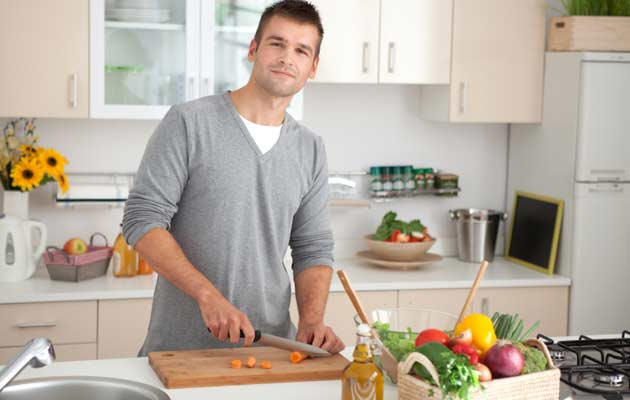 young man in kitchen article