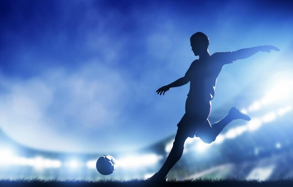 player shooting on goal