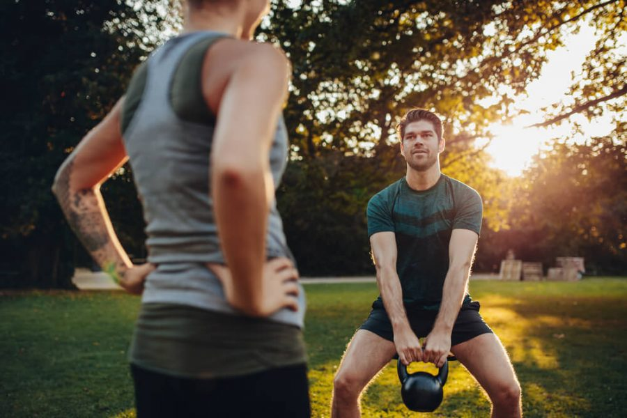 weight training with personal female trainer