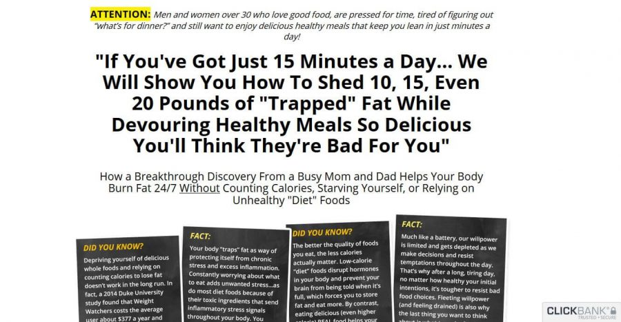 Make your meals healthy and lose weight using Fast Fat Burning Meals Cookbook