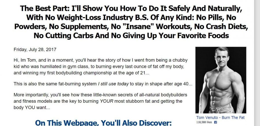 Burn down your fat with Burn The Fat