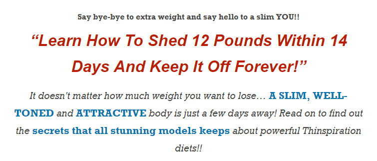 The idea brought about by Pro Thinspiration