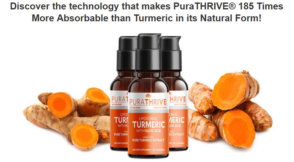 Captation Purathrive Liposomal Turmeric drops