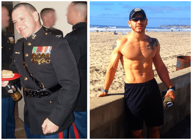 Man lost weight with paleo
